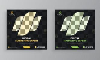 capa de mídia social da agência de marketing e modelo de banner vetor