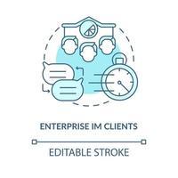 ícone de conceito azul do cliente empresarial im vetor