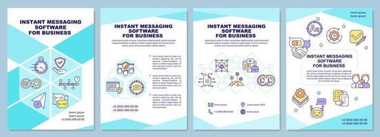 software de mensagem instantânea para modelo de folheto de negócios vetor