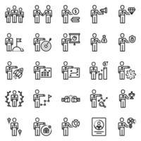 conjunto de ícones de pessoas de negócios - ilustração vetorial. vetor
