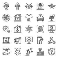 conjunto de ícones de tecnologia - ilustração vetorial. vetor