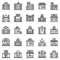 conjunto de ícones de construção - ilustração vetorial. vetor