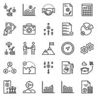 conjunto de ícones de negócios - ilustração vetorial. vetor