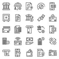 conjunto de ícones de finanças - ilustração vetorial. vetor