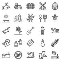 conjunto de ícones de agricultura - ilustração vetorial. vetor