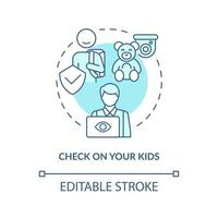 verifique o ícone do conceito de seus filhos vetor