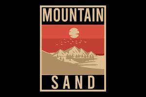 design plano de areia da montanha vetor
