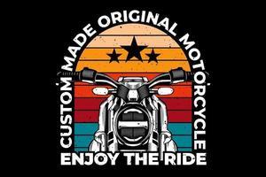 motocicleta aproveite passeio estilo tipografia vetor