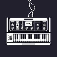 sintetizador de instrumentos musicais de teclado eletrônico com mixers vetor