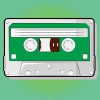design incomum de uma cassete retro vintage vetor