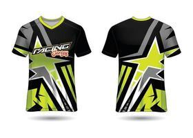 design de esporte de t-shirt. camisa de corrida. vista frontal e traseira uniforme. vetor