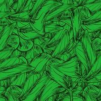 pilha de folhas ilustração padrão folha sem costura fundo verde vetor