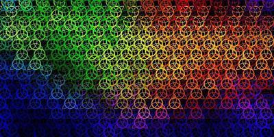 modelo de vetor multicolorido escuro com sinais esotéricos.