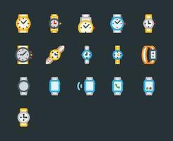 ícones de relógios de pulso vetor