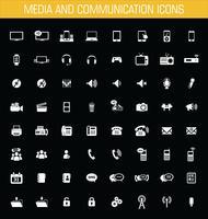 Ícones de mídia e comunicação