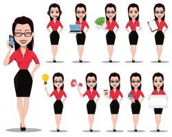 secretária sexy. linda assistente de escritório vetor