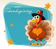 feliz Dia de Ação de Graças. peru de ação de graças vetor