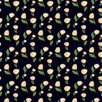 padrão de moda com flores sem costura, para design têxtil vetor