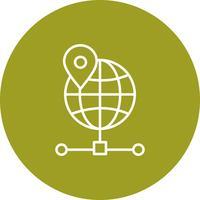 Ícone do globo do vetor