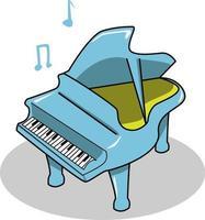piano azul simples vetor