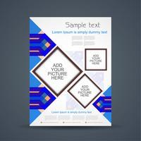 Modelo de folheto de negócios abstratos