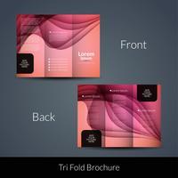 Modelo de folheto de negócios Tri fold abstrata