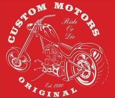 design de camiseta de motocicleta vintage vetor