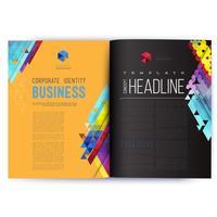 Modelo de design de vetor abstrato para as páginas da revista