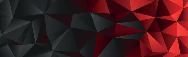 triângulos gradientes abstratos de preto e vermelho de diferentes tamanhos - vetor
