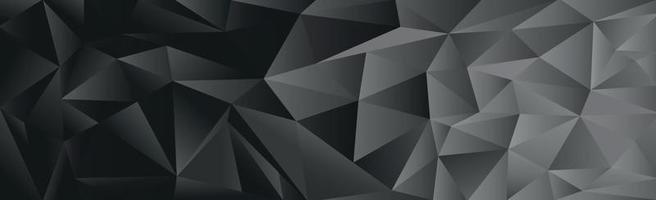 triângulos gradientes abstratos de preto e cinza de diferentes tamanhos - vetor