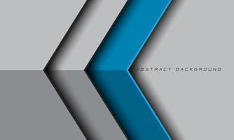 abstrato azul cinza metálico seta direção espaço em branco futurista vetor