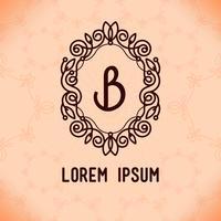 Elementos de design de quadro de linha de vetor para logotipos, ornamento e decoração