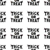 doce ou travessura letras. padrão sem emenda de halloween isolado no branco vetor