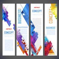 Banners de concepção abstrata vector design de modelo, brochura, elemento