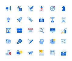 conjunto de ícones de negócios e marketing vetor