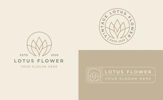design de logotipo de flor de lótus vetor