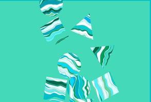 fundo azul claro, verde do vetor com triângulos, círculos, cubos.