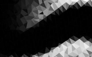 fundo de mosaico abstrato de vetor cinza escuro, prata.