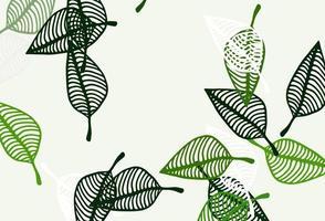 textura de desenho de vetor verde claro.
