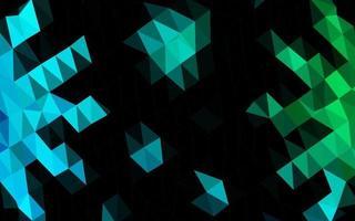 layout de baixo poli de vetor de azul escuro e verde.
