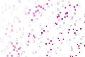 padrão de vetor rosa claro com cristais, retângulos.