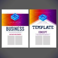 Estilo corporativo de vetor abstrato modelo empresarial para negócios, folheto, panfleto, página