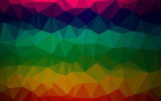multicolor escuro, padrão poligonal de vetor de arco-íris.