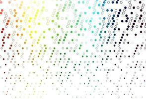 luz multicolor, textura de vetor de arco-íris com discos.
