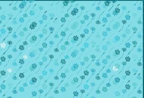 fundo pintado à mão do vetor azul claro.