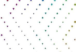luz multicolor, modelo de vetor de arco-íris com símbolos de pôquer.