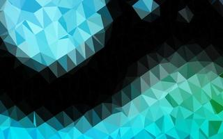 modelo de triângulo embaçado de vetor azul claro e verde.