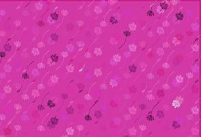 capa de doodle de vetor rosa claro.