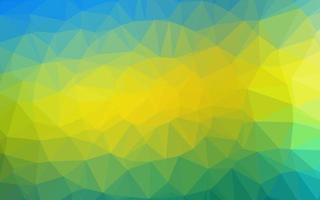 textura poligonal abstrata de vetor azul e amarelo claro.