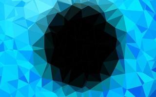 fundo poligonal do vetor azul claro.